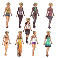 Arietta Outfits by ZodiacDreamer