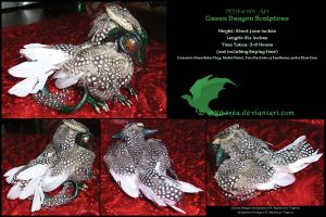 Green Dragon Sculpture by Mytherea