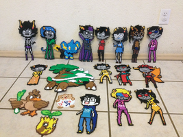 Homestuck/Pokemon Group Picture by InvaderFuzzytalon