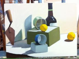 In-Class Still Life Painting by etodorut