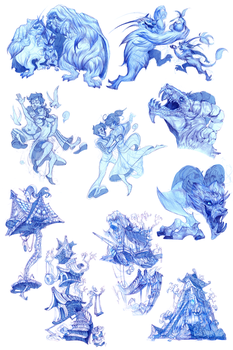 Little Nemo concept drawings by sarya