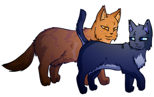 Lionblaze and Cinderheart by ColacatintheHat