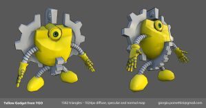 Lowpoly Yellow Gadget from YGO by MightyDargor