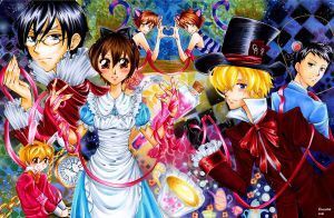 Ouran host club Wonderland by Irreeltal