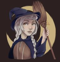 White-Haired Witch by JelArts