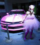 Pink car and pink pokemon by therealdeathnote