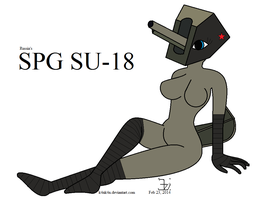 Anthro SPG _ SU-18 girl _ version 2 by K4nK4n