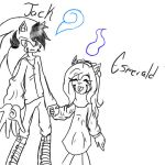 Jack and sister Esmeraldja by LTHVampiWolf