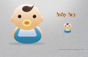 Baby Boy by customicondesign