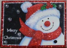 A Happy Snowman Card by blackrose1959