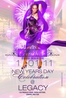 new years celebration flyer by DeityDesignz