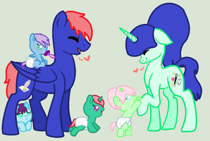 The whole family by MelodyHeartArtist