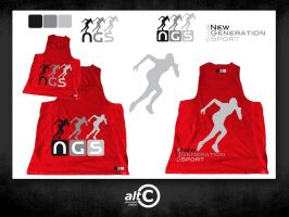 Ngs Race Shirt Red by ALTERNATIVE-CREATION