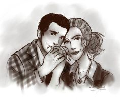 Fallout NV: Cass and Benny by adlibber