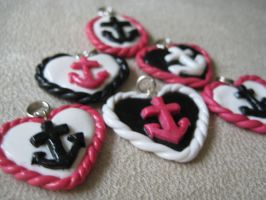 Navy Hearts are Pink by evililchic54