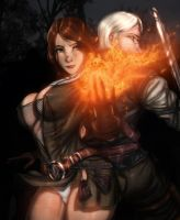 I'll get us out of this Geralt by Ultamisia