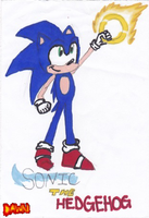 Sonic The Hedgehog by Dawnfire2025