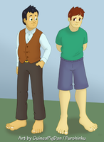 Human Peter and James -color- by GuineaPigDan