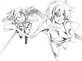 lineart: The Runaway by nanase08