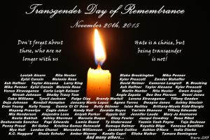 Transgender Day of Remembrance 2015 by GirlInBoy