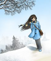 Winter Walk by Horuni