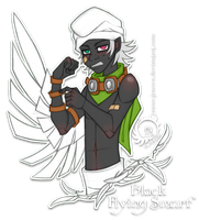 Black Flying Smurf by Icarus-Skollsun