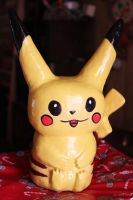 Ceramic Pikachu by Muirrine