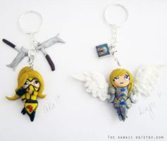Stinger akali and Battleborn Kayle Keychains by Thekawaiiod