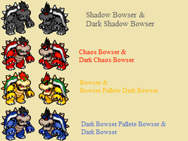 Bowser and Dark Bowser Palette by Quagmirefan1