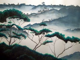 Amazon Mists .:Watercolor:. by cordria
