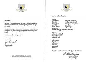 Cackle's Academy Acceptance Letter by decat