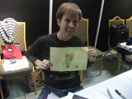 James Arnold Taylor AND my drawing!! by Project-GAME