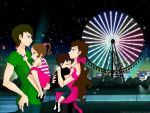Family day at amusement park by wallflower2525
