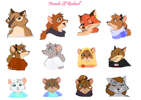 The Females Of Redwall by Jublenarris
