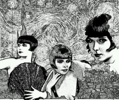 Silent Hollywood Louise Brooks digital drawing by ramsdalejunior