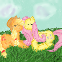 Applejack and Fluttershy- You are My World by Born-Alive