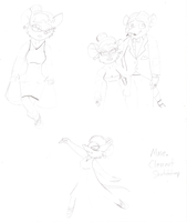 GMD: Mme. Clement Sketchdump by MouseAvenger