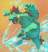 Feraligatr request by PinkGermy