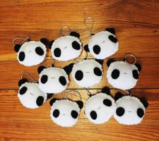 Panda Keychains by CosmiCosmos