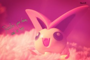 Dreamy Victini by Bluuberwolf