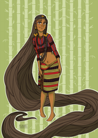 Filipino Rapunzel by kamidoodles