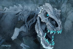 The Nights Rex: White Walker T-Rex by xericho