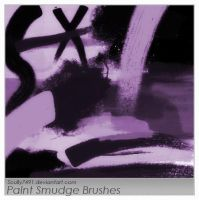Paint Smudge Brushes by Scully7491