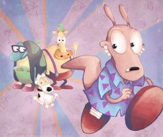Rocko, Filburt, Heffer and Spunky by MissNeens