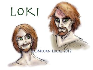 Loki: Colored Concept Sketches