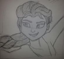 Elsa sketch by MyVisionIsDying
