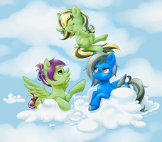 [COMMISSION]Clockwork, Silver Rainstorm, Whirlwind by donttouchmommy
