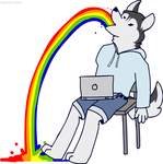 If you give a husky the internet by Newshift