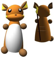 MMD - Raichu Pokedoll Download by CharrChan