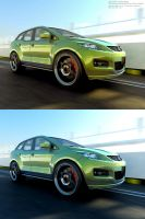 Mazda CX-7 in motion by midoo55